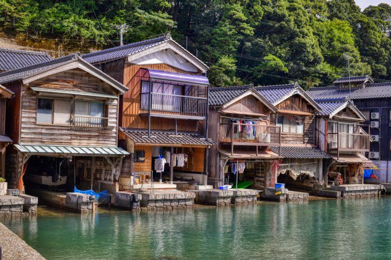 伊根湾の舟屋